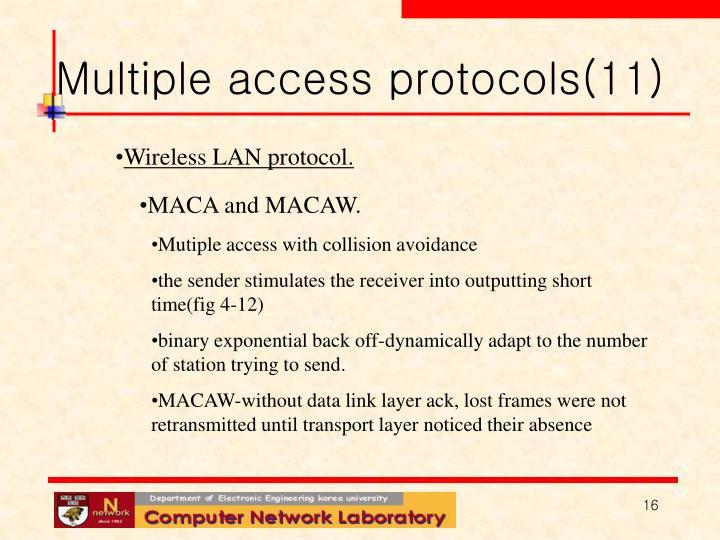 Multiple access protocols(11)