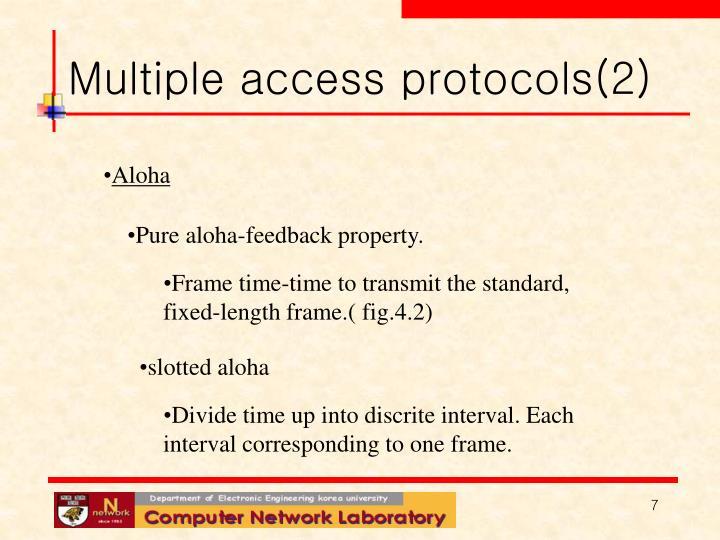 Multiple access protocols(2)