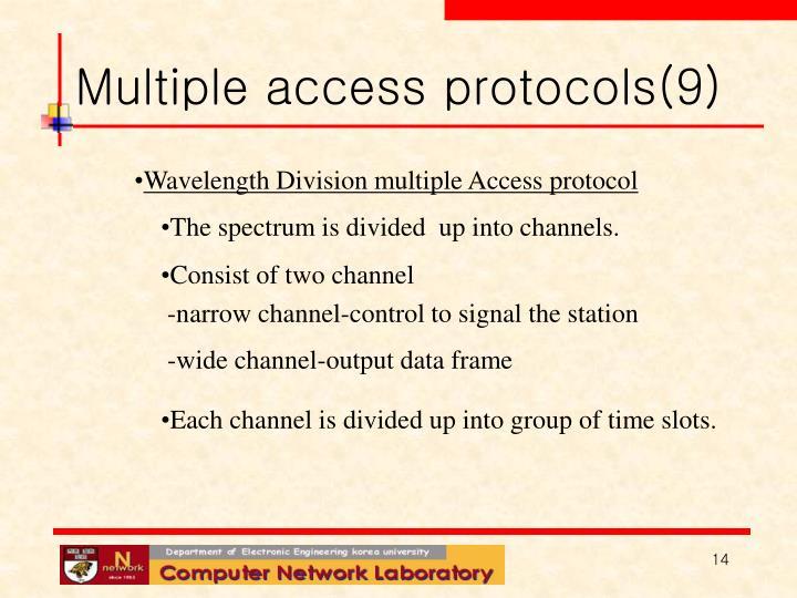 Multiple access protocols(9)