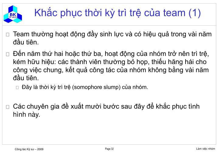 Khắc phục thời kỳ trì trệ của team (1)