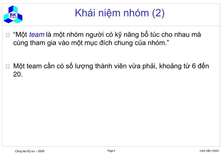 Khái niệm nhóm (2)