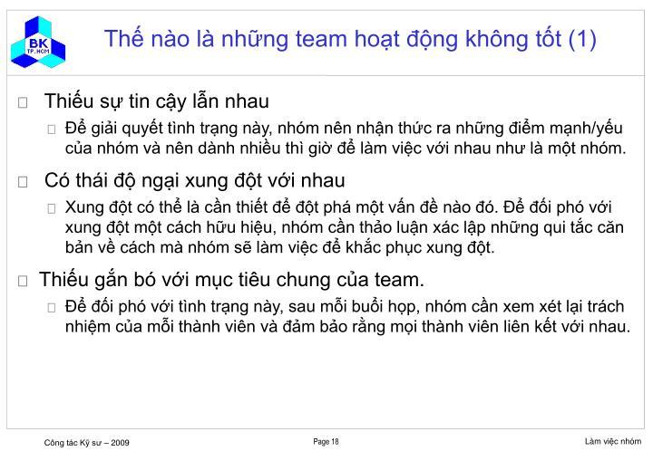 Thế nào là những team hoạt động không tốt (1)