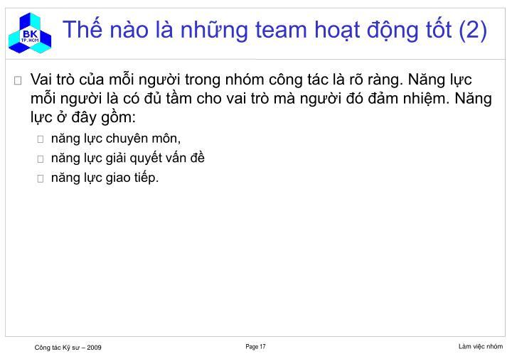 Thế nào là những team hoạt động tốt (2)
