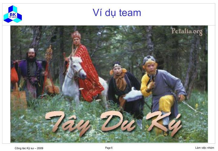 Ví dụ team