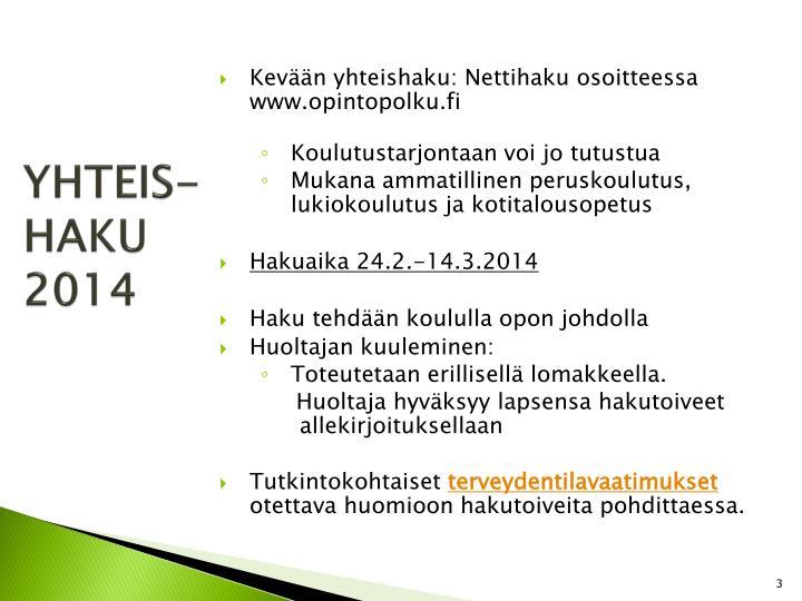 Yhteis haku 2014