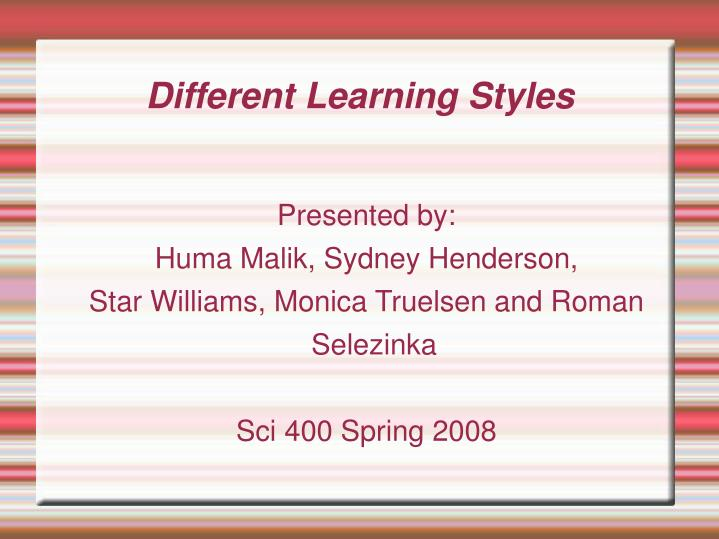 3 different learning styles