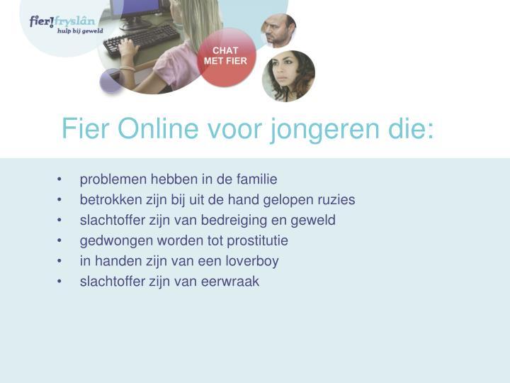 Fier Online voor jongeren die: