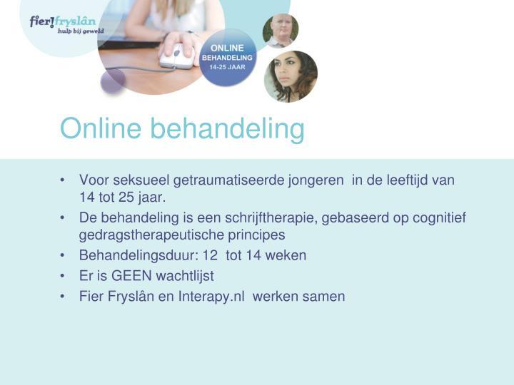 Online behandeling