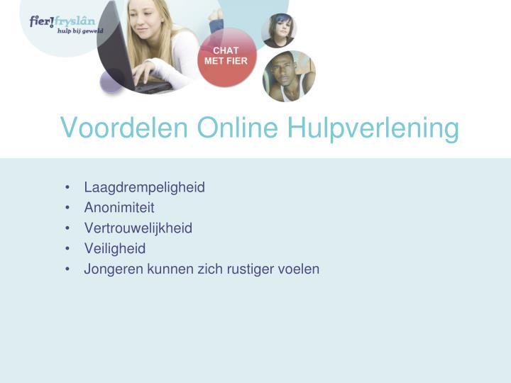 Voordelen Online Hulpverlening