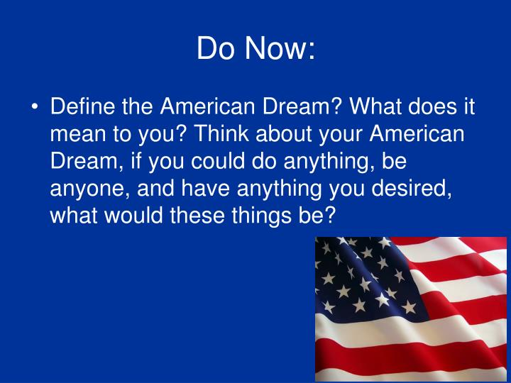 the american dream what does it