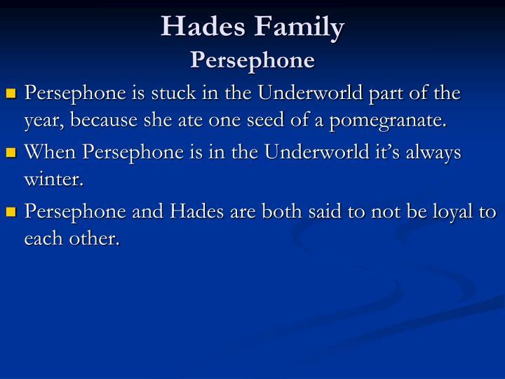 Hades family persephone
