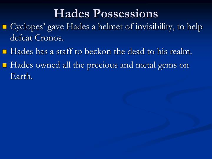 Hades Possessions