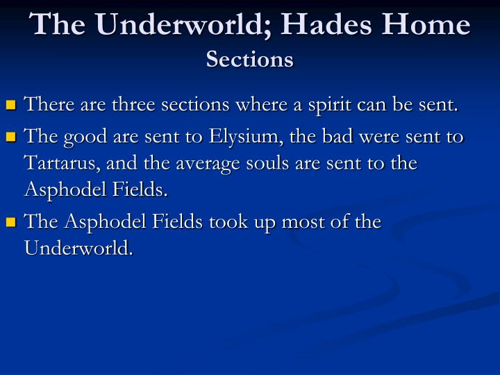 The Underworld; Hades Home