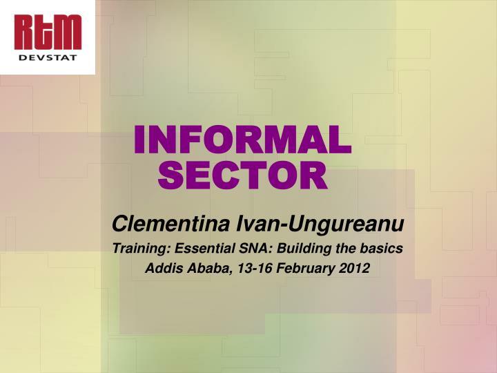 informal sector n.