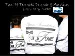 tux n tennies dinner auction presented by swbc