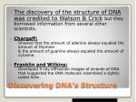 discovering dna s structure1
