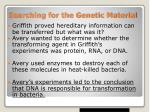 searching for the genetic material2
