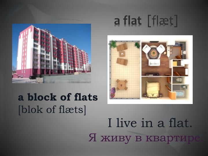 A flat fl t
