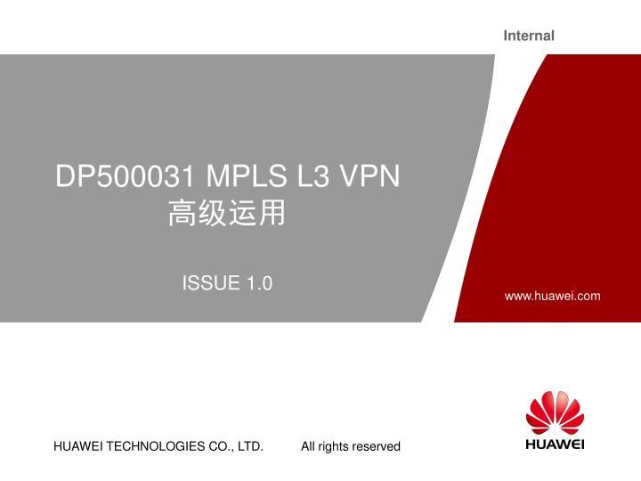 Dp500031 mpls l3 vpn