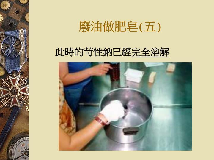廢油做肥皂(五)