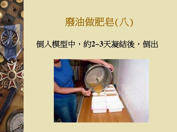 廢油做肥皂(八)