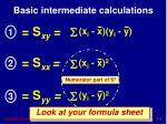 basic intermediate calculations