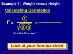 calculating correlation