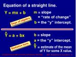 equation of a straight line