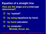 equation of a straight line1