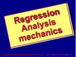 regression analysis mechanics