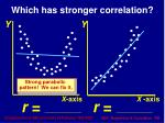 which has stronger correlation2