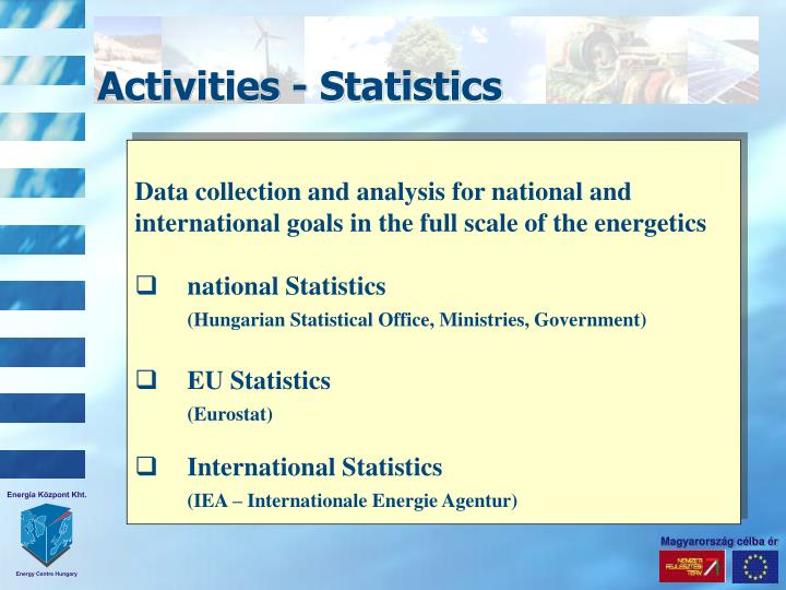 statistics in data collection and analysis Data collection and interpretation data interpretation is part of daily life for most people interpretation is the process of making sense of numerical data that has been collected, analyzed, and presented.