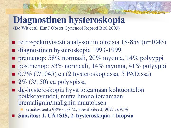 Diagnostinen hysteroskopia