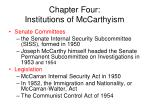 chapter four institutions of mccarthyism
