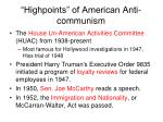 highpoints of american anti communism