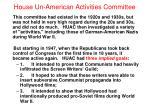 house un american activities committee