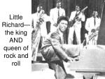 little richard the king and queen of rock and roll