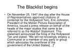 the blacklist begins