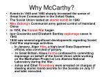 why mccarthy