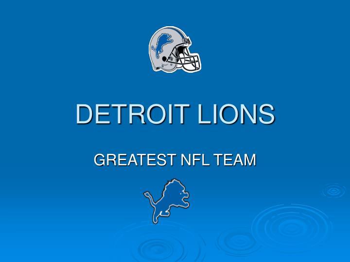 detroit lions n.