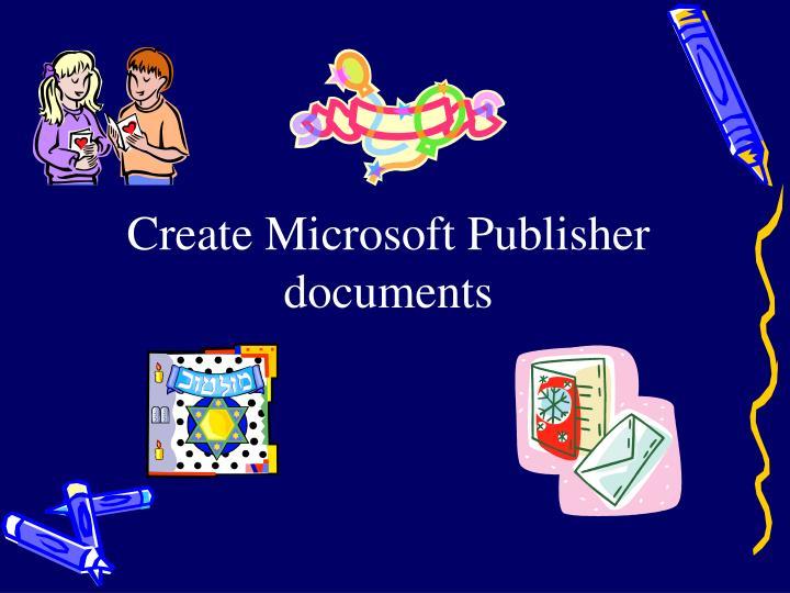 Create Microsoft Publisher document