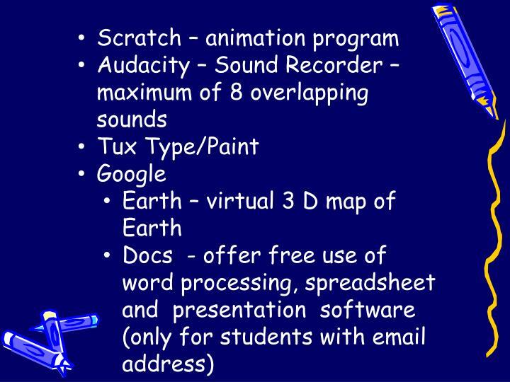 Scratch – animation program