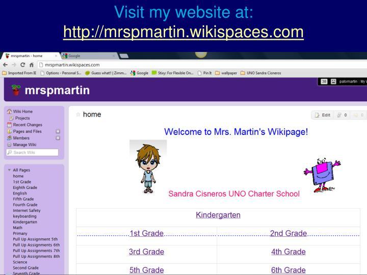 Visit my website at: