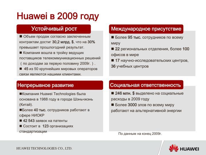 Huawei 2009