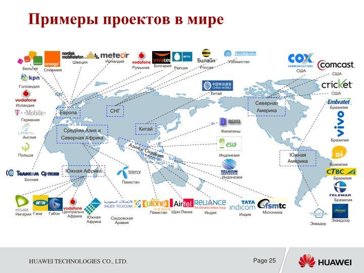Примеры проектов в мире