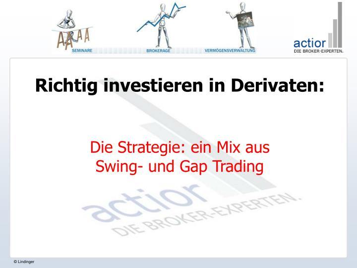 Richtig investieren in Derivaten: