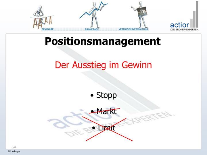 Positionsmanagement