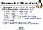 d marrage de mysql sur linux 2