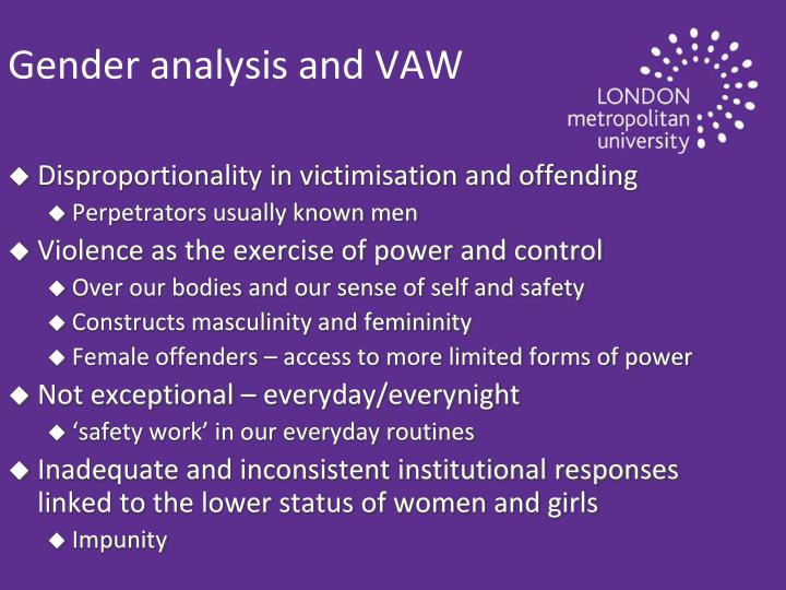 Gender analysis and VAW