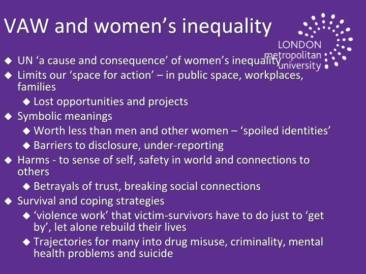 VAW and women's inequality